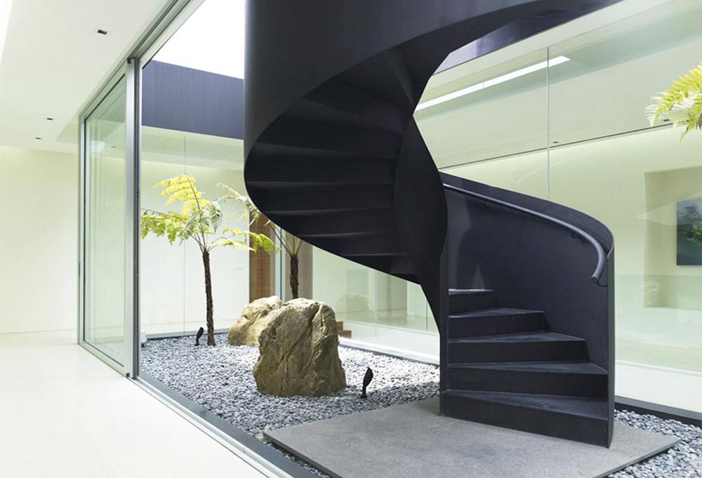 Progettazione Scale A Chiocciola : Scale per interni su misura palladio scale srl