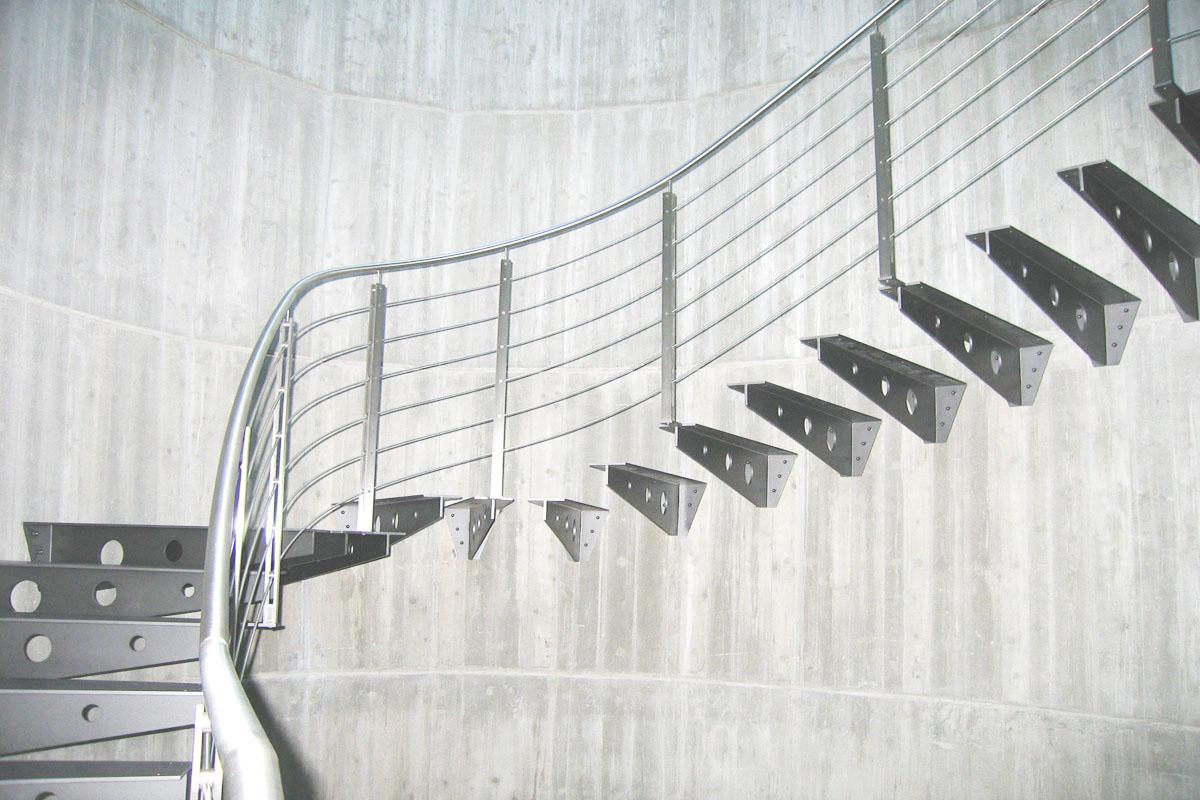 Progettazione Scale Normativa : Scale in acciaio per interni su misura palladio scale srl